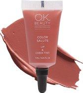 OK Beauty Color Salute Lip n Cheek Tint – Long Lasting Velvet Finish Lip Care & Blush in 6 trendy colors (Gypsy)