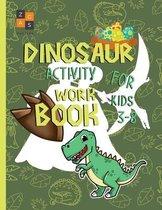 Dinosaur activity workbook for kids 3-8