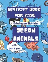 Activity Book For Kids Ocean Animals