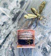 LXRY Silk - 6 kleine zijden scrunchies / haarelastiekjes - ivoor / champagne / zwart