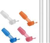 CamelBak Eddy+ Kids Bite valve 4-pack & 2 Straws (Assorti)