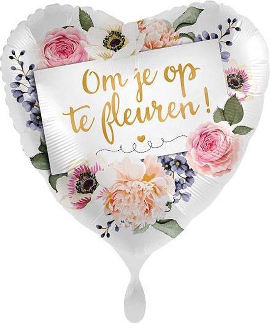 Everloon - Folieballon - Om Je Op Te Fleuren! - 43cm - Leuk als opsteker