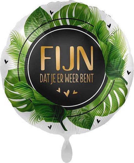 Everloon - Folieballon - Fijn Dat Je Er Weer Bent - 43cm - Voor gelukwens