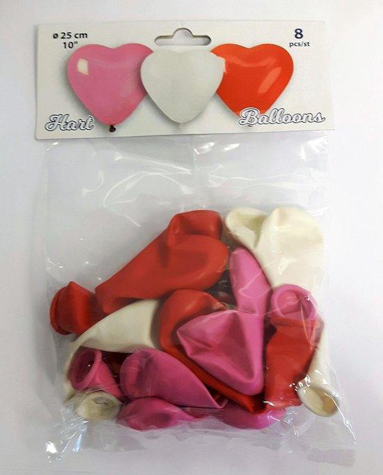 Valentijn Hart ballonnen - verpakt per 24