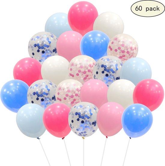 40 stuks Latex Helium Ballonnen Roze Blauw mix MagieQ Feest|Party|Kinderfeesje|Decoratie|versiering|Babyshower|Gender reveal