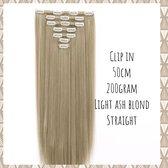 Clip In Extensions DUBBELSET 200gr 50cm light ash blond