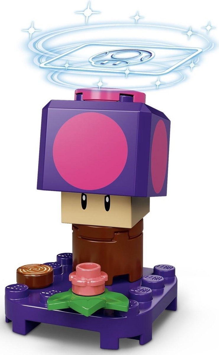 LEGO 71386 Super Mario Serie 2 Personagepakket - Poison Mushroom (verpakt in transparant zipzakje)