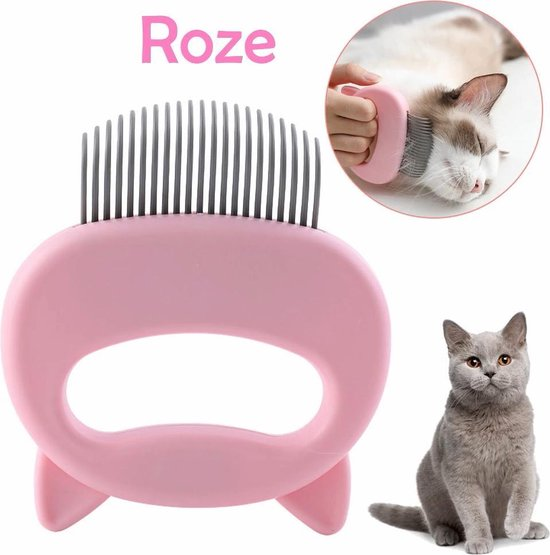 Katten Borstel / Kam   Massage Borstel   Roze   Haar verwijderen