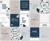 Set kaarten 'Teksten en quotes' | A6 formaat | 15 stuks | wenskaart | ansichtkaart | NEW