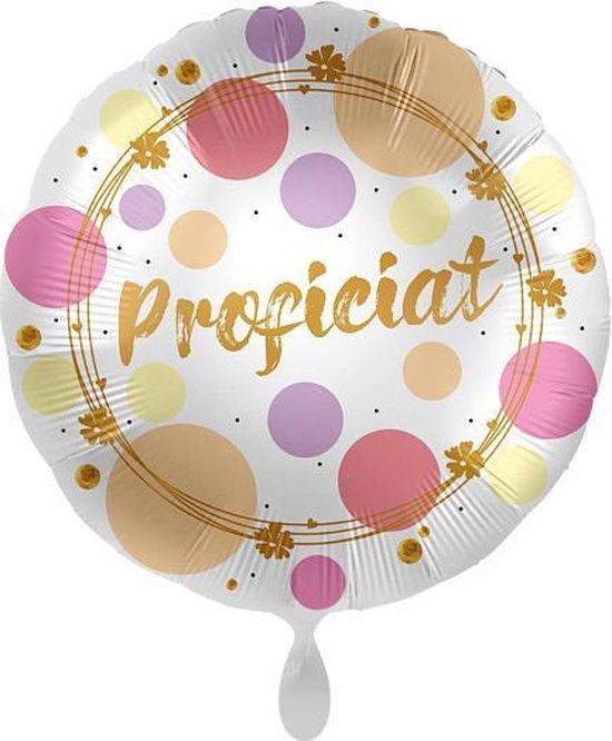 Everloon - Folieballon - Proficiat - 43cm - Voor Verjaardag