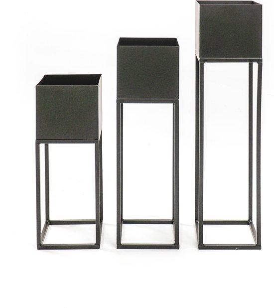 Metalen Planten Standaard-15x60/50/40 cm-Housevitamin set van 3