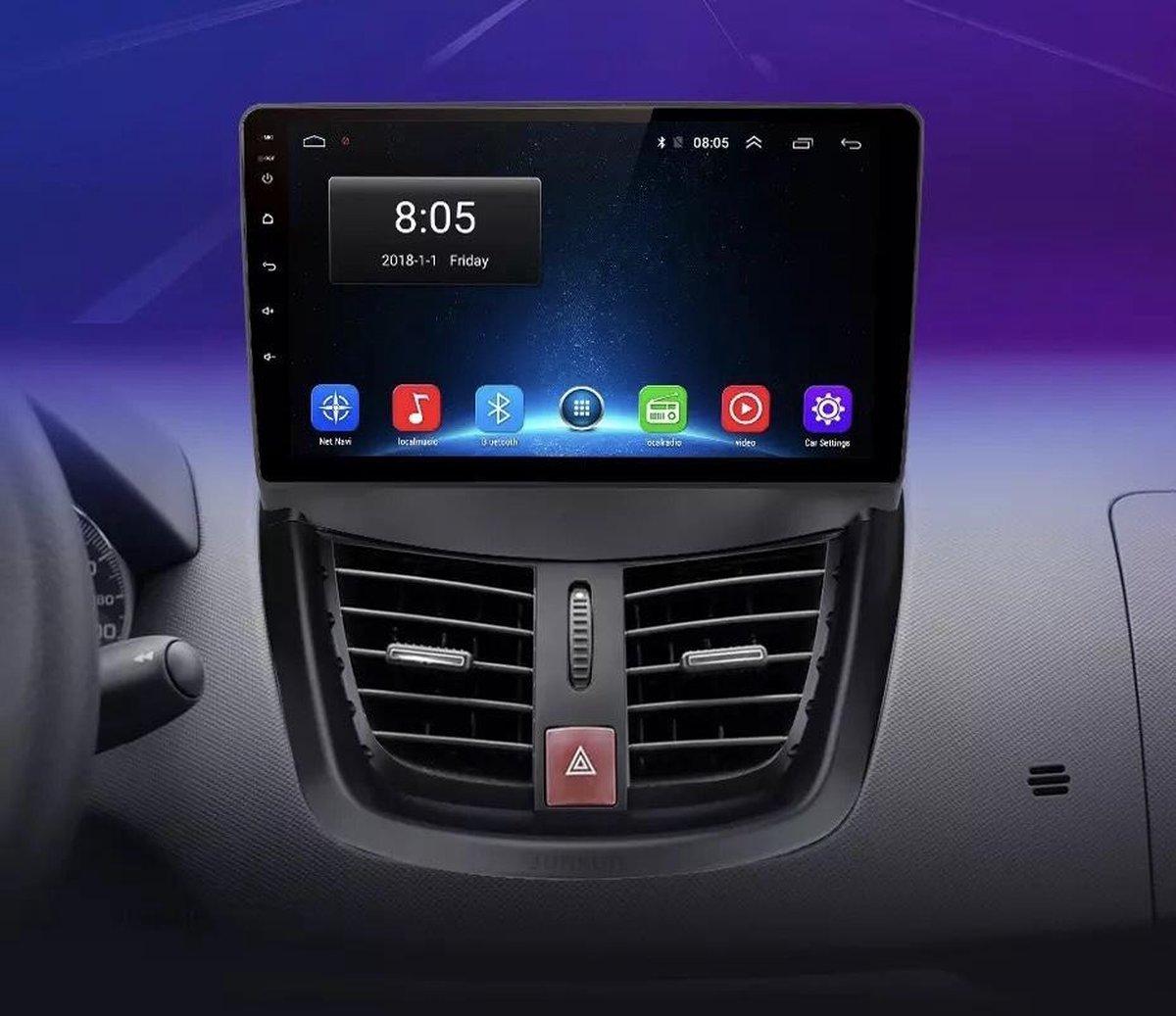 Peugeot 207 2006-2015 Android 10 navigatie en multimediasysteem 1+16GB