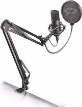 Trust GXT 252 Emita Plus - Studio Microfoon met Arm - Gaming - USB - Zwart - PS5