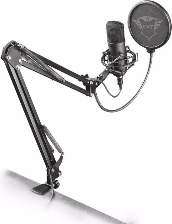 GXT 252 Emita Plus - Studio Microfoon met Arm - Gaming - USB - Zwart