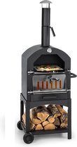 MaxxGarden Pizza oven - Smoker barbecue op hout, houtskool of pellets - 45 x 65 x 158cm