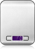 Digitale Precisie Keukenweegschaal - Tot 5000 Gram ( 5kg ) - Zilver