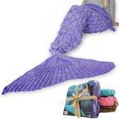MikaMax - Zeemeermin Deken - Mermaid Blanket Lila - 1.95m