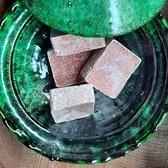 5 amberblokjes incl. organza zakjes (originele amber geurblokjes uit Marokko)