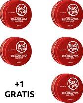 Red One Red 4 + 1 GRATIS | Aqua haar gel wax | Red One Wax | Red One Gel | Rood