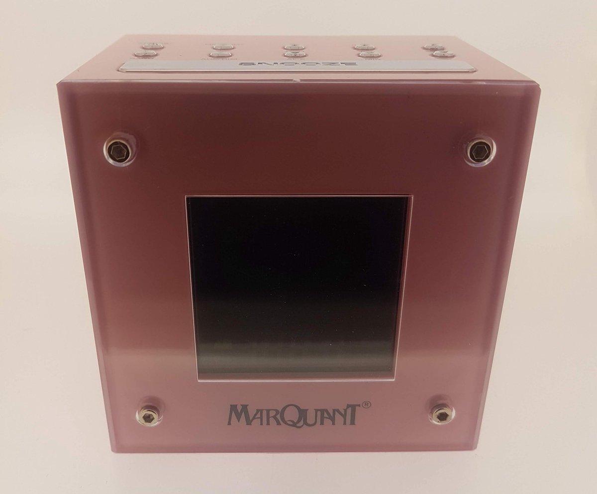 Marquant MCK-257 radio Klok Roze