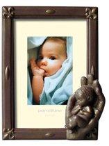 Fotolijst brons 9x13cm hand met kind br