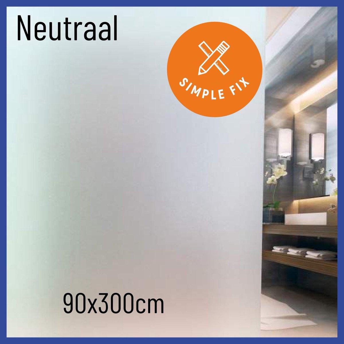 Raamfolie - 90cm x 300cm - Plakfolie - Zelfklevend - Statisch - Privacy Verhogend - Anti Inkijk