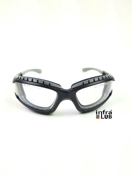 Bollé veiligheidsbril Tracker Tactical Bril clear platinum zwart