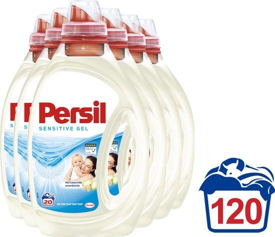 Persil Sensitive Gel Vloeibaar Wasmiddel - Baby en Gevoelige Huid - Voordeelverpakking - 6 x 20 wasbeurten