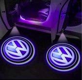 Volkswagen Deur Logo Projector - Volkswagen deurlicht - Volkswagen - draadloos - op batterij - universeel - 2 stuks