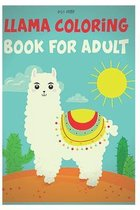llama coloring book for adults