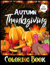 Autumn Thanksgiving Coloring Book for adults