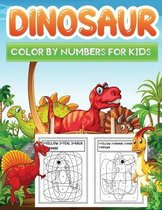 dinosaur color by numbers for kids