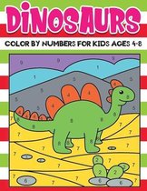 dinosaurs Color by Numbers for kids ages 4-8