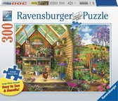 Ravensburger puzzel Blik in het tuinhuis - Legpuzzel - 300 stukjes extra groot