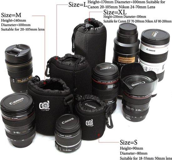 Lightdow lens pouch lenstas opbergtas maat XL