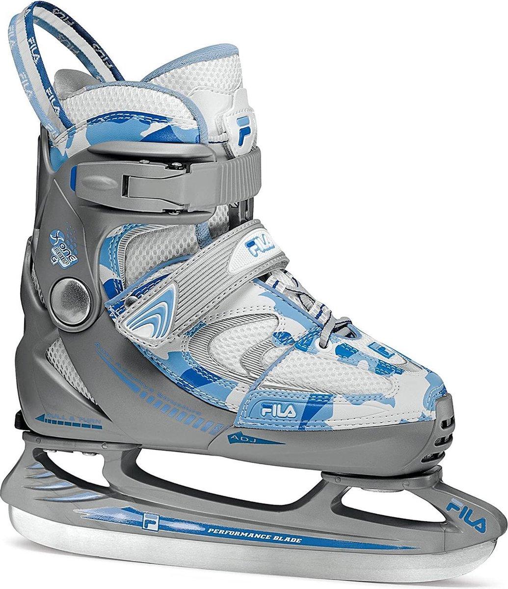 Kinderschaatsen / Schaatsen FILA X One Comp G Ice, Grijs / Blauw / Wit, Maat 32 t/m 35 (verstelbaar), Let op: Verpakking (doos) kan licht beschadigd zijn