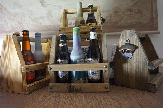 Bieropener met houten kist - mancave decoratie - bierpakket - cadeau verjaardag - bierkratje