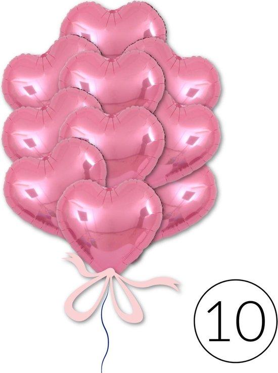 10 Ballonnen Hart Roze voor Valentijn, Geboorte, Babyshower, Verjaardag of Bruiloft | Geschikt voor Helium