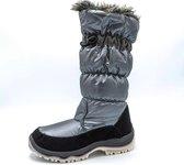Snowworld Snowboots - Dames - Zilver/Zwart - Gevoerde hoge laars - Maat 39
