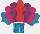 Eco Femme Full Cycle Kit (wasbaar maandverband startset voor je menstruatie) - donker
