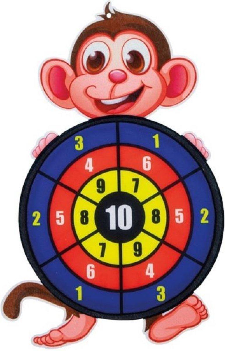 Toi-Toys - Dartbord klittenband - Aap incl. 3 ballen 28x44cm