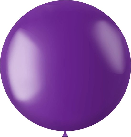 Paarse Ballon Metallic Violet Purple 80cm