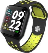 """F8 1.3 """"IP67 5.0 Unisex Smartwatch - Waterdicht - Kleurenscherm - Activiteitenmonitor - Hartslag - Bloeddruk - Stappenteller - Calorieteller - voor Fitness - Sporthorloge - IOS en Android – Zwart"""