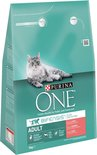 PURINA ONE Adult - Zalm/Volkoren Granen - Kattenvoer - 3 kg