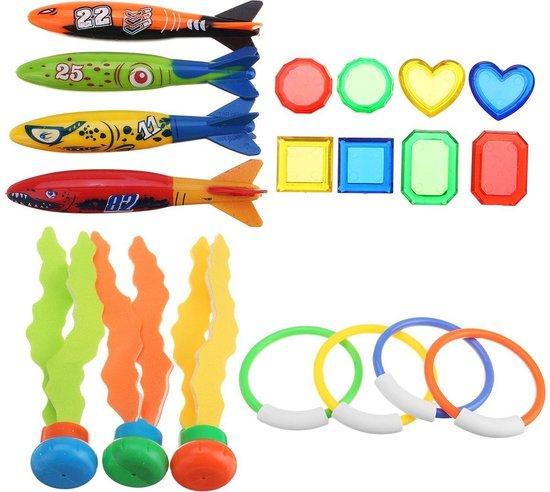 Duikspeelgoed - Zwembad speelgoed - Speelgoed voor in bad - Duikringen - 19 stuks