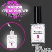 Orby® Magische Gellak Remover Set (4-in-1) - [INCLUSIEF Bokkenpootje + Olie pen + Nagelvijl] - Gellak Verwijderen – Nagellak Remover