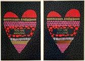 Luxe Valentijnskaarten - 2 stuks