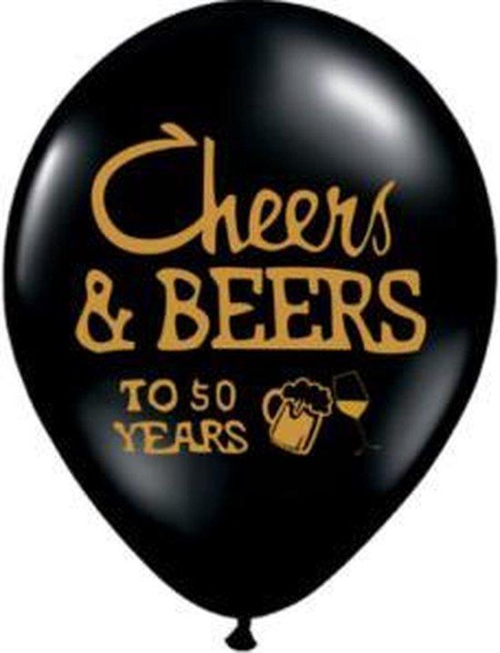 Ballon 50 jaar Cheers and Beers, 10 stuks kindercrea