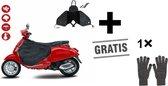 Luxe Zwart Scooter Beenkleed met Gratis Handschoenen - Beenkleed scooter - Scooter deken - Universeel - Scooter Accesoires - Met Gratis Opbergtas - scooter beenwarmer - Cadeau