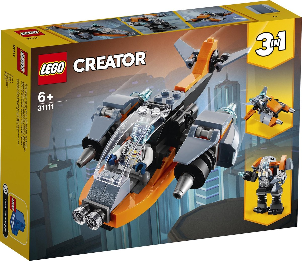 LEGO Creator Cyber Drone - 31111